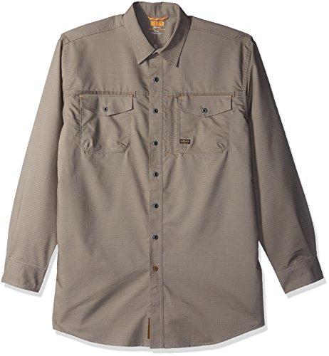 Ariat Men's Big REBAR Long Sleeve Work Shirt, Brindle, Tall Large - Big And Tall Long Sleeve Work Shirt