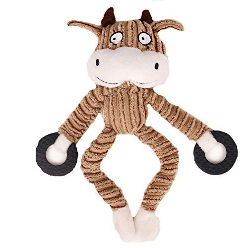 MENGMA Hundespielzeug aus Plüsch, Beißwiderstand, Quietschen, Kauspielzeug für Zahnreinigung in Tierform