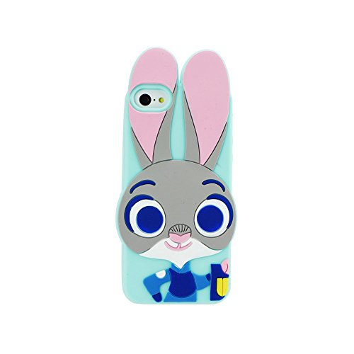 Back Case 3D Bunny/Lapin Menthe Coque de protection pour iPhone 6 4,7 Case Étui de protection