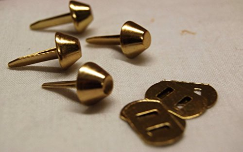 Celloexpress® 12mm Gold flach mit Rücken–Tasche & Geldbörse Füße mit Rücken–Flacher boden Handtasche Ohrstecker–BAG & Basteln, gold (Tasche Füße)