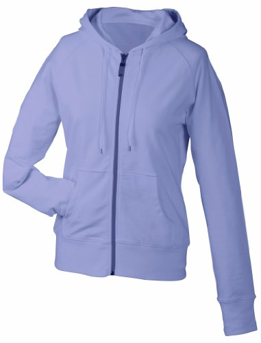 James & Nicholson Damen Sweatshirt Hooded Lilac