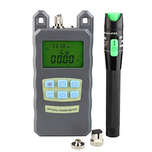 DAXGD 20mW visivo Fault Locator fibra ottica Cable Tester e fibra ottica Power Meter (-70 dBm ~ + 10 dBm) Potenza in fibra ottica 15 km penna della