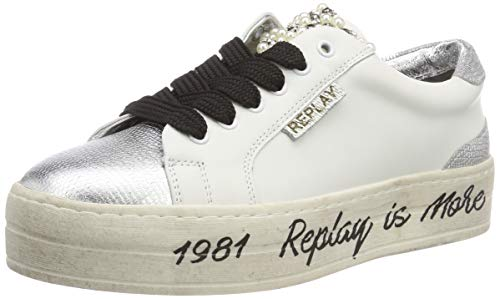 Replay Damen First Sneaker Mehrfarbig (White Silver 81) 41 EU