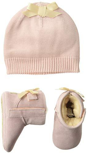 UGG Baby Mädchen I Jesse Bow II & Beanie Krabbelschuhe, Pink (Baby Pink Bpnk), 18 EU