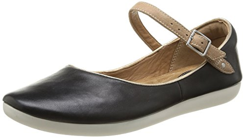 Clarks Feature Film, Damen Mokassin, Schwarz (Black Leather), 39 EU (5.5 Damen UK)