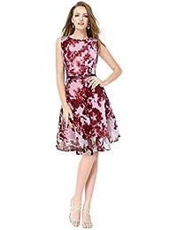 c7259ee24c13 GG Dress Knee Length Cold Shoulder Onepiece Western Wear Skater Dress for  Women and Girls(