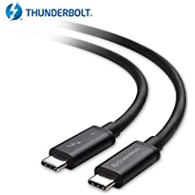 Cable Matters Thunderbolt 3 (40 Gbps) / USB-C 3.1 Gen 2 (10 Gbps) via Cavo in Nero 0.5m