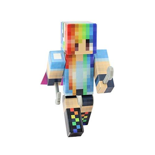 EnderToys Rainbow Girl Action Figure Toy, 10cm Custom Series Figurines, …