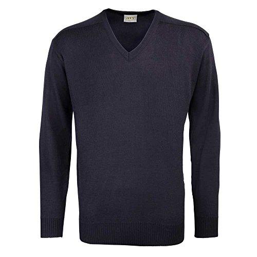 Preisvergleich Produktbild RTY Workwear Herren Acryl-Pullover mit V-Ausschnitt (Medium) (Marineblau)