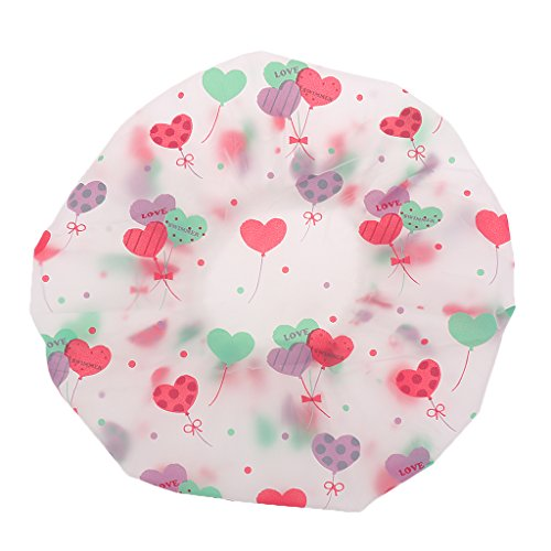 MagiDeal Bonnet de Douche Réutilisable Lavable PEVA Imperméable - Ballon