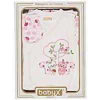 Babyx 7084K Kedili Kız Hastane Çıkış Setleri, 5'li