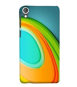 Bluethroat Elliptical Multicoloured Pattern Back Case Cover for HTC Desire 825