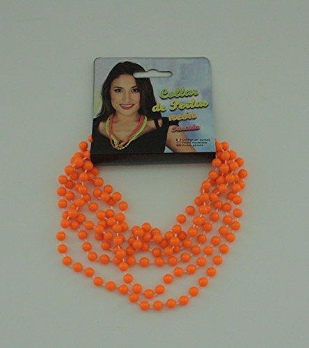 80er JAHRE - orange (Orange Halskette)