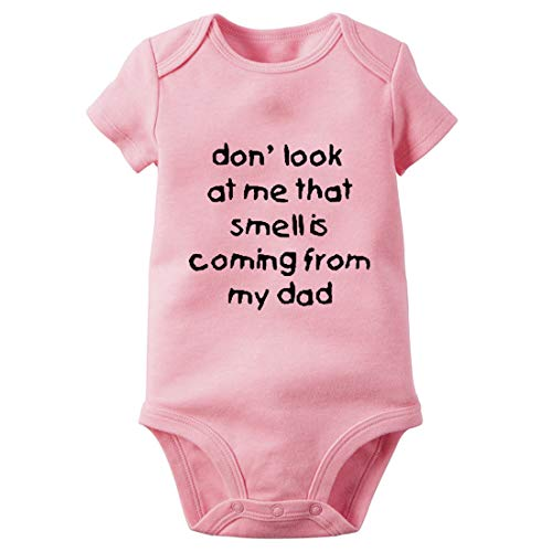 Baby Bodysuit with don'look at me That Smell is Coming from My dad