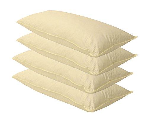 4 x Sofa Federkissen 40x60 cm (echte Federn) robust & formstabil