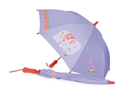 Egmont Toys Regenschirm, Kinderschirm, Kinder-Regenschirm, Motiv: Indien, ca. 62 cm, in lila