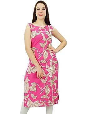 Phagun Rayón Kurti de mujeres de origen Kurta Impresión del damasco diseñador del vestido ocasional