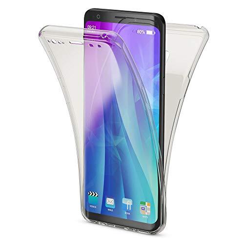 NALIA 360 Grad Hülle kompatibel mit Samsung Galaxy S9, Full Cover vorne und hinten R&um Doppel-Schutz, Dünnes Ganzkörper Case Silikon Etui, Transparenter Bildschirmschutz und Rückseite, Farbe:Schwarz