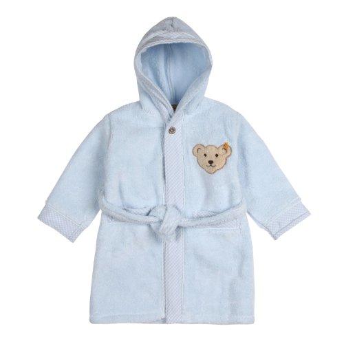 Steiff Unisex - Baby Bademantel 0002907, Blau (3023 ), 104 (Herstellergröße: 98/104)