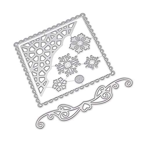 chablonen Schneiden Schablonen Papier Karten Sammelalbum Dekor, Metall Schneiden Schablonen für DIY Scrapbooking Album 0626124 ()