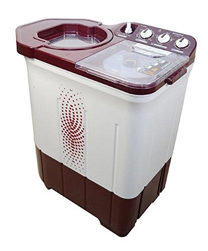 Sansui WMSS60AS-CMA Semi-Automatic Top-Loading Washing Machine (6kg, Maroon)