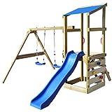 vidaXL Portique Aire de Jeux en Bois pour Enfants avec échelle balançoires et Toboggan