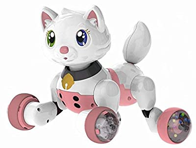 Electronic Kitty Toy - Talking Super Space Puppy Kitty Electronic Pet Toy - Large Touch Sensor & Voice Activated Interactive Educational Voice Control I-Robot Kitty Toy 15 Voice Commands - for Boys and Girls