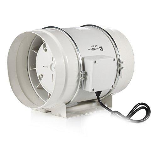 Hon&Guan 200mm Rohrventilator Mischdurchfluss Rohrlüfter mit Starker Abluft System 494CFM für Büro , Bad , Halle , Hydroponic Zimmer (200mm)