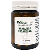 Preisvergleich für L Lysin 60 Kapseln • Nahrungsergänzungsmittel mit L-Lysin-HCI und Zink • In Kleinserien erzeugt • L-Lysin Kapseln...