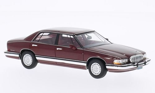buick-park-avenue-met-dark-red-1991-model-car-ready-made-neo-143-by-neo
