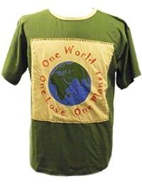 One World One Love T-shirt - Fair Trade 100% Coton