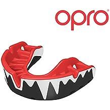 Rugby Protector bucal OPRO Self-Fit GEN 3 Platinum Unisex - Para Balonmano, hockey, artes marciales mixtas, lacrosse, fútbol americano, baloncesto y más - Fabricado en Reino Unido Los protectores bucales de OPRO se diseñan y fabrican en Reino Unido (Vampiro)