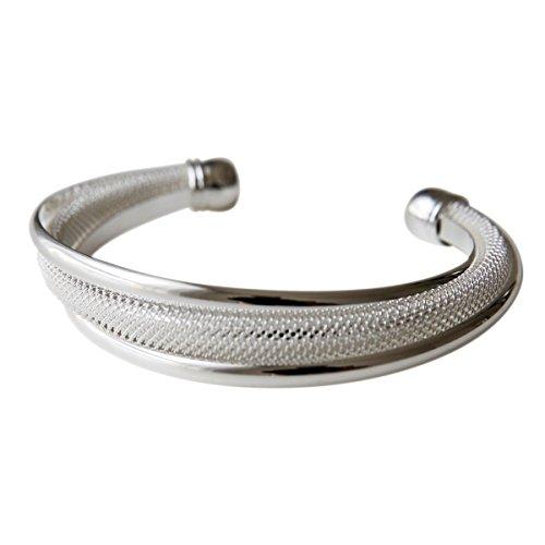 perla pd design massiver offener filigraner Armreif, 925 Sterling Silber plattiert, Armband, Armkette, Schmuck, Geschenk