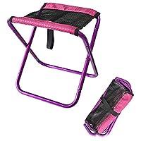 zhruiqun Portable Camping Outdoor Fishing Chair - Beach Travel Hiking Oxford Cloth Fold Up Stool(Purple)