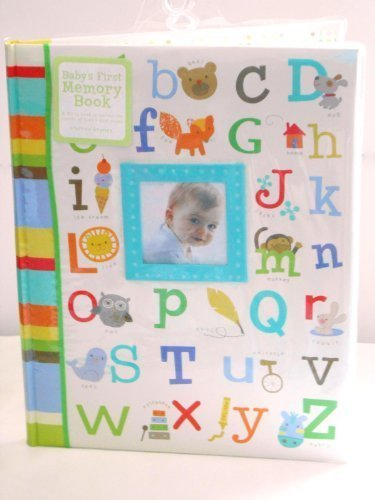 Baby's First Memory Book Alphabet w/ Pictures, Green, Blue, Brown, Yellow, Orange by C.R. Gibson (English Manual)