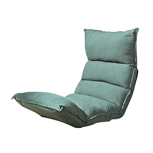 Willsego sedia da terra home office pieghevole schienale regolabile divano pigro lounge gaming computer computer (verde) (colore : -, dimensione : -)