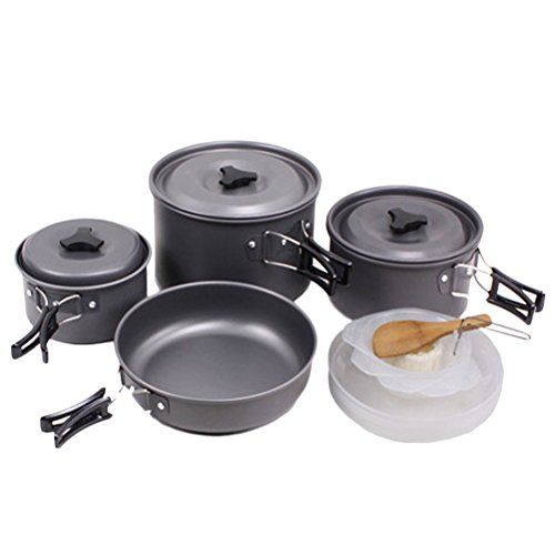 Zhhlinyuan Hi-Quality Outdoor Anodised Aluminium Kit Camping Cookware