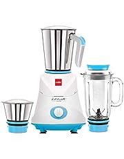 Cello Grind N Mix Ertiga 500-Watt Juicer Mixer Grinder with 3 Jars (Blue)