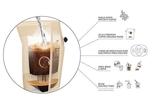 Kaffee Geschenk-Set, Coffeebrewer 10er-Sortiment, ideale Geschenkbox (MEHRWEG)