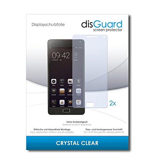 disGuard® Bildschirmschutzfolie [Crystal Clear] kompatibel mit Lenovo Vibe P1 [2 Stück] Kristallklar, Transparent, Unsichtbar, Extrem Kratzfest, Anti-Fingerabdruck - Panzerglas Folie, Schutzfolie