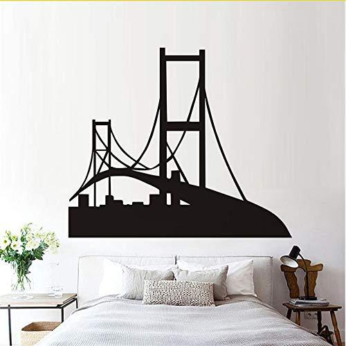 Silhouette Wandtattoo Golden Gate Bridge Vinyl Entfernbare Wandaufkleber Für Wohnzimmer Wohnkultur 68X58 Cm ()