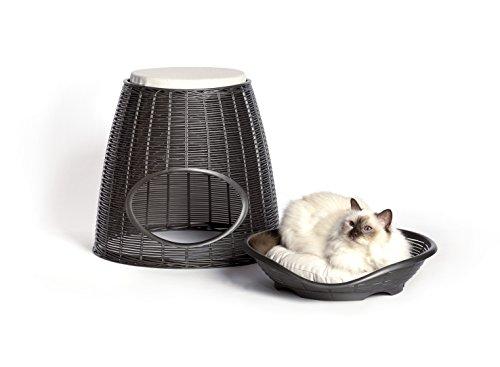 Bama pasha cuccia per gatti e cani, antracite, 52x50x55 cm