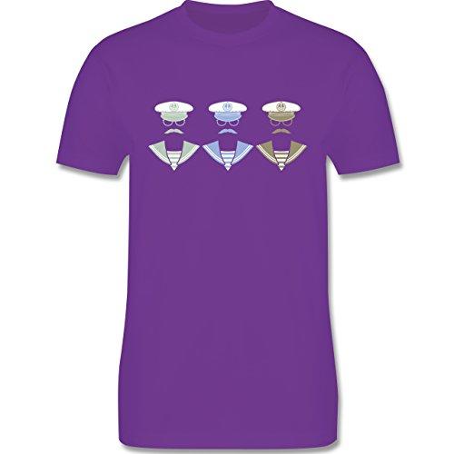 Schiffe - 3 Matrosen - Herren Premium T-Shirt Lila