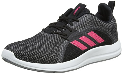 adidas Damen Element V Laufschuhe, Mehrfarbig (Core Black/Real Pink/Grey Three 0), 37 1/3 EU