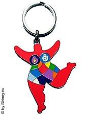 Biriney Colourful Nana Mini Figure Keyring , Tribute to Niki De Saint Phalle