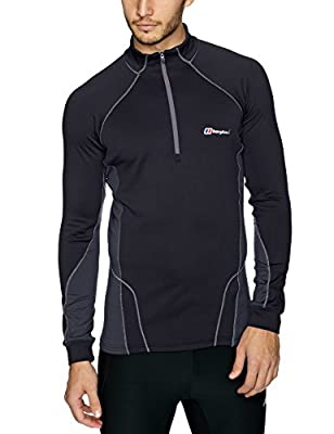 Berghaus Men's Thermal Zip Neck T-Shirt