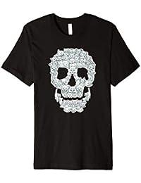 Katze Totenkopf T-Shirt Katzen Cat Skull Katzenmotiv