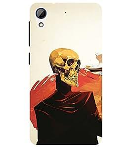 Chiraiyaa Designer Printed Premium Back Cover Case for HTC Desire 626 (danger Skeleton skull dancing) (Multicolor)