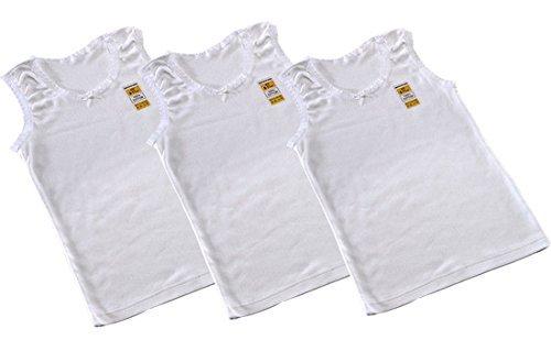 **Ideale per la scuola** 3 Confezione da ragazza 100% caldo cotone per attività sportiva/disponibile età 1 fino 13 anni