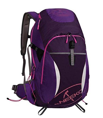 Spalle alpinismo uomini e donne esterni borse 40L viaggi trekking zaino ( Colore : Nero , dimensioni : 40L ) Viola